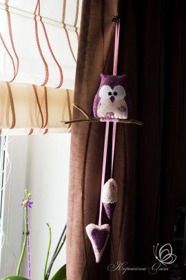 Интерьерная кукла Фиолетовая сова в Stranamasterov.by Беларусь.