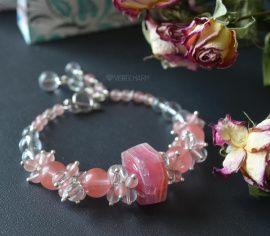 Браслет из камней Crystal pink в Stranamasterov.by Беларусь.