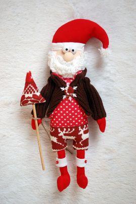 Интерьерная игрушка Санта Клаус в Stranamasterov.by Беларусь.
