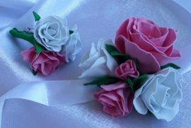 Бутоньерки для свидетелей Бутоньерки свидетелям - подарок ручной работы на свадьбу Россия.