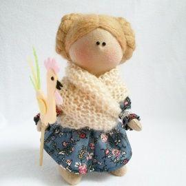 Авторская кукла Девочка с петушком в Stranamasterov.by Беларусь.