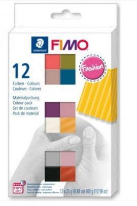Набор полимерной глины SOFT 12*25гр FASHION COLOURS, 8023 С12-5, FIMO Россия.