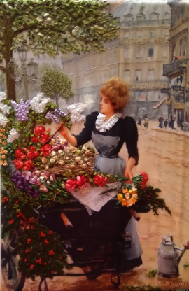 Картина Цветочница Парижа в Stranamasterov.by Беларусь.