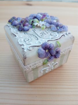 Коробочка для колец Винтажная - подарок ручной работы на свадьбу Беларусь.