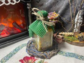 Ведьмина бутыль Защитная - подарок ручной работы на свадьбу Беларусь.