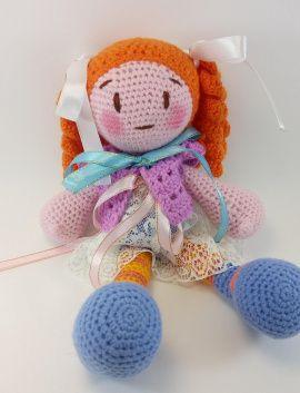 Кукла-амигуруми Вязаная куколка Фиолетта в Stranamasterov.by Россия.