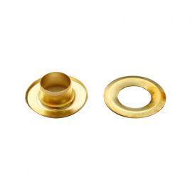 Люверс №5 8мм, сталь золото Россия.