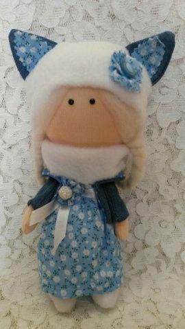 Кукла-малышка Голубая кота в Stranamasterov.by Беларусь.