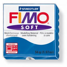 Запекаемая полимерная глина FIMO Soft Синий 8020-37 (57гр) Беларусь.