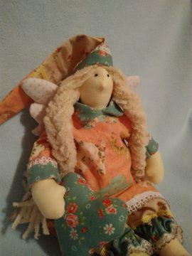 Кукла Тильда Сонный ангел со слониками в Stranamasterov.by Беларусь.