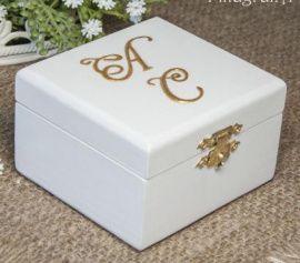 Шкатулка для колец Идиллия - подарок ручной работы на свадьбу Беларусь.