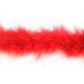 Боа пух 0431-0037, 1.8м красный, 20гр Россия.