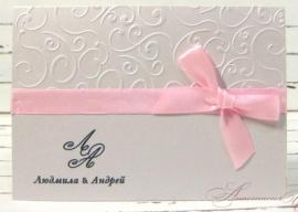 Приглашение Нежность - подарок ручной работы на свадьбу Россия.