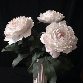 Декоративные цветы в вазе Пионы в Stranamasterov.by Беларусь.