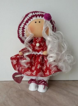 Текстильная куколка Моника в Stranamasterov.by Беларусь.