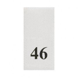 Этикетка-размерник, белый, 10*20мм, упаковка 100шт, 46 Россия.