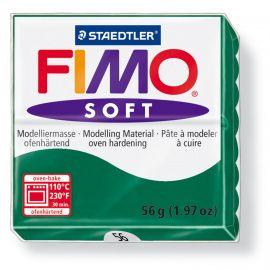 Полимерная глина FIMO SOFT Изумрудный 8020-56 57гр Россия.
