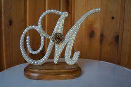Монограммы Буквы - подарок ручной работы на свадьбу Беларусь.