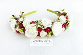 Ободок Розы с ягодками и зеленью в Stranamasterov.by Беларусь.