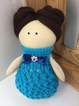 Текстильная куколка Бирюза в Stranamasterov.by Беларусь.