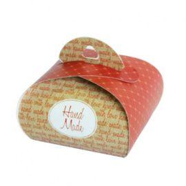 """Подарочная коробочка Бонбоньерка """"Hand Made terracotta"""", 2шт в упаковке, HY00911 Беларусь."""
