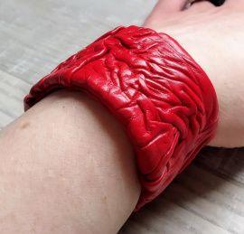 Браслет кожаный Красный в Stranamasterov.by Беларусь.