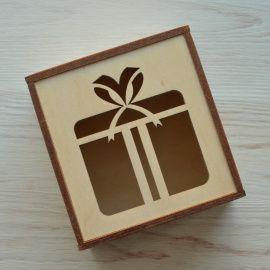 Подарочная коробка Фанерная 10*9*6 см в Stranamasterov.by Беларусь.