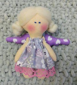 Новогодняя игрушка Куколка-ангелочек Снежка в Stranamasterov.by Беларусь.