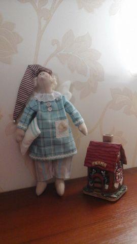 Кукла-тильда Сонный ангел в голубом в Stranamasterov.by Россия.