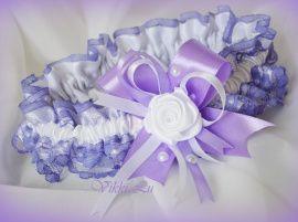 Подвязка Сиреневое кружево - подарок ручной работы на свадьбу Беларусь.