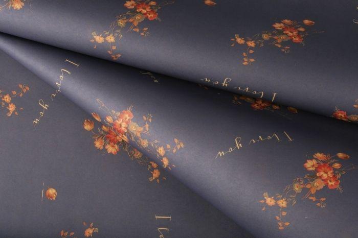 Бумага цветная Мелкие цветы 60*60см 10 листов, фиолетовая, 65998