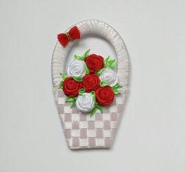 Сувенир-магнит Корзинка роз в Stranamasterov.by Беларусь.