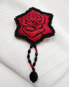 Брошка Роза в Stranamasterov.by Беларусь.