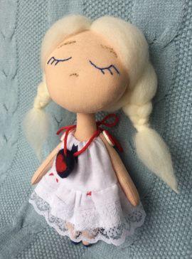 Текстильная кукла Эльза в Stranamasterov.by Беларусь.