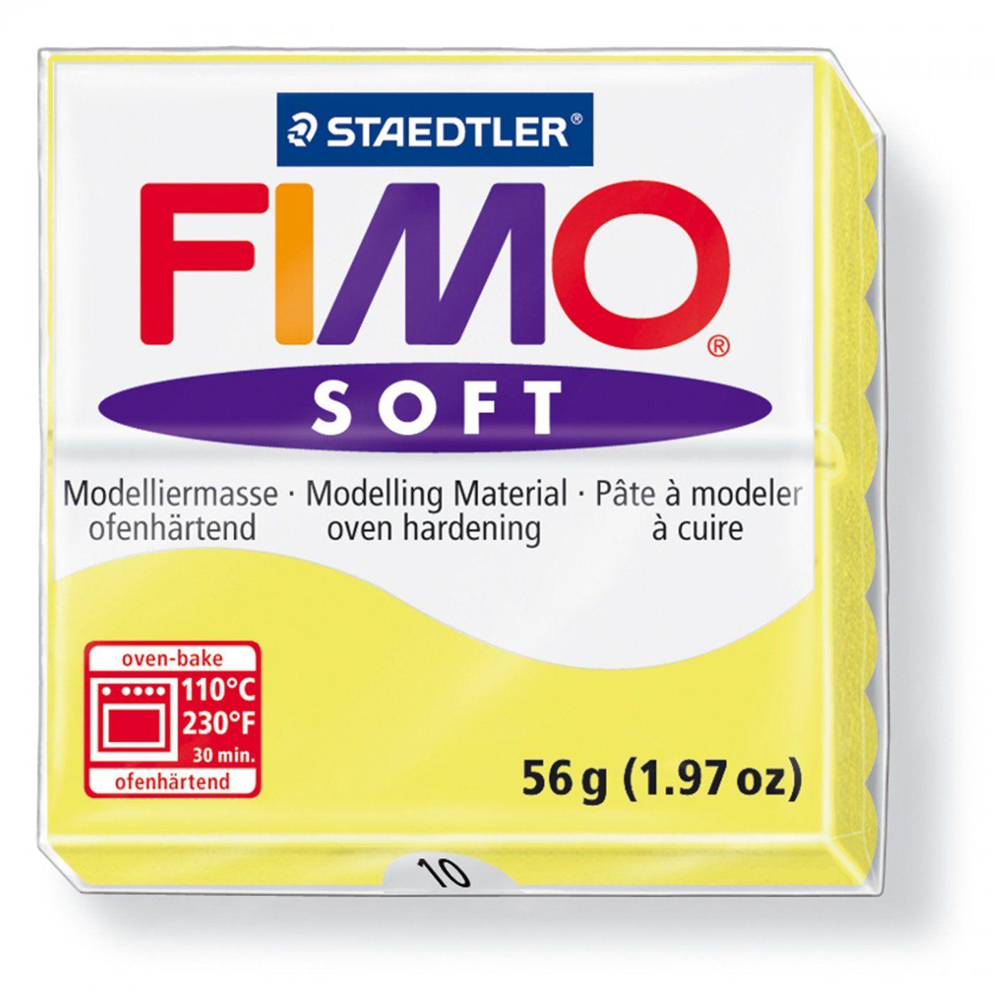 Запекаемая полимерная глина FIMO Soft Лимонный 8020-10 (57гр)