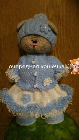 Вязаная игрушка крючком Котик в Stranamasterov.by Беларусь.