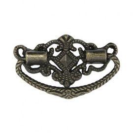 Ручка декоративная для шкатулок 24*48мм, 2шт бронза Россия.
