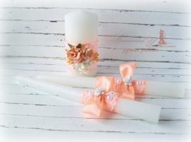 Семейный очаг Сочный персик - подарок ручной работы на свадьбу Беларусь.
