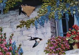 Картина лентами Ласточкино гнездо в Stranamasterov.by Беларусь.
