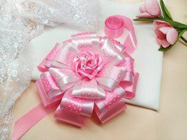 Бант на выписку Розовая роза в Stranamasterov.by Беларусь.