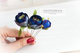 3 шпильки в прическу Чайная роза в Stranamasterov.by Беларусь.