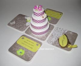 Коробочка для денег Торт - подарок ручной работы на свадьбу Беларусь.