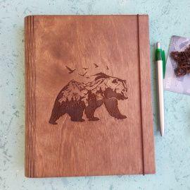 Блокнот с органайзером Медведь в Stranamasterov.by Беларусь.