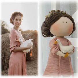 Интерьерная кукла Портретная в Stranamasterov.by Беларусь.