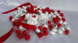 Бутоньерки для гостей - подарок ручной работы на свадьбу Беларусь.
