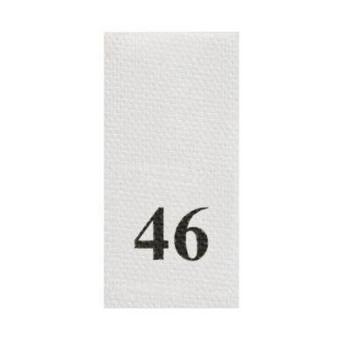 Этикетка-размерник, белый, 10*20мм, упаковка 100шт, 46
