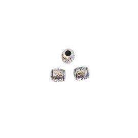 Бусины под металл, 9*8мм, упаковка 90шт, (стёмное серебро) 2103, АСТРА Россия.