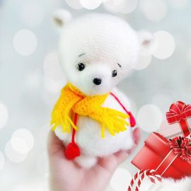 Интерьерная игрушка Белый мишка в Stranamasterov.by Беларусь.