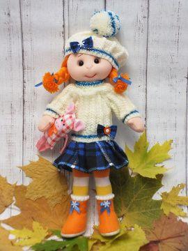 Текстильная кукла Лиза в Stranamasterov.by Беларусь.
