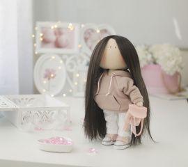 Текстильная кукла Современная девочка в Stranamasterov.by Беларусь.